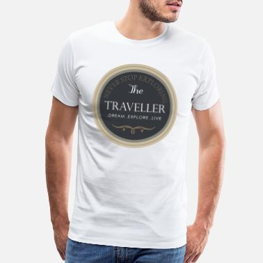 Travel Themed The Traveller! - Men's Premium T-Shirt