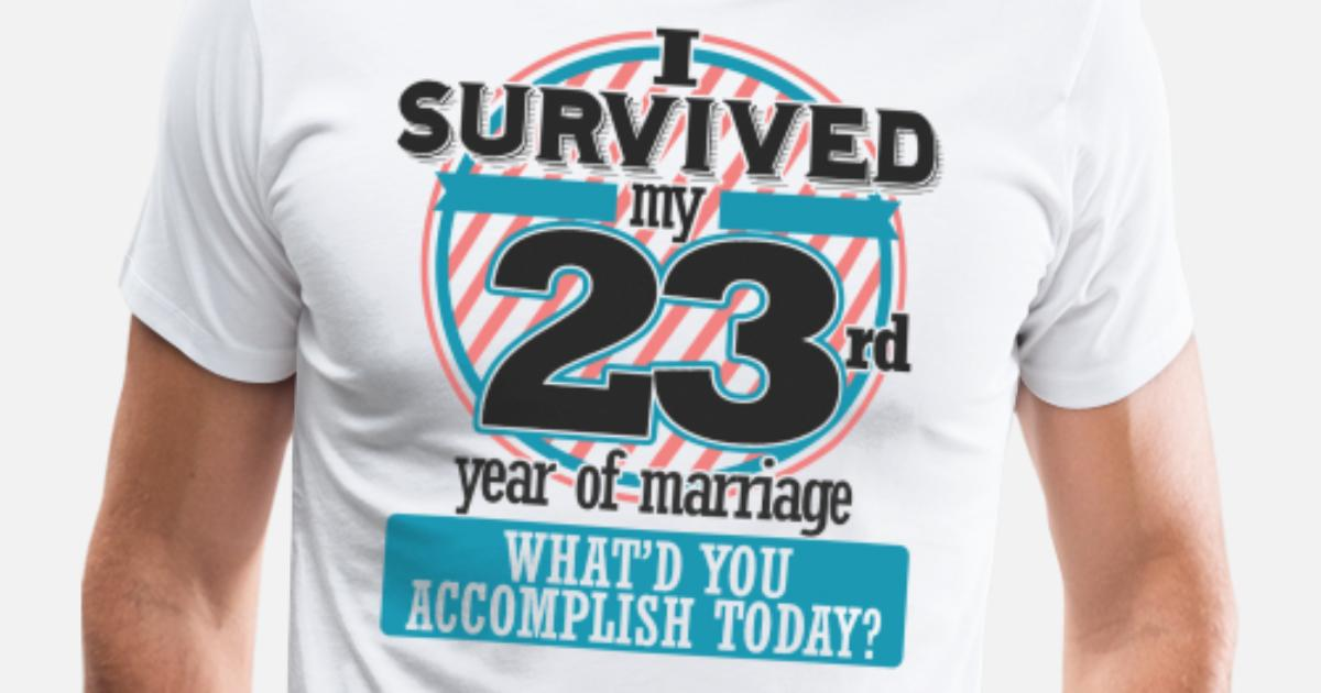 23rd Wedding Anniversary Gift Ideas: 23rd Wedding Anniversary Funny Gift Since Men's Premium T