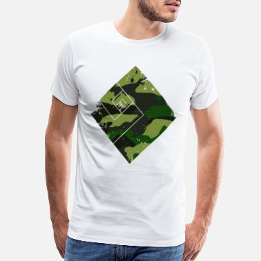 Topselling Square camouflage pattern green - Men's Premium T-Shirt