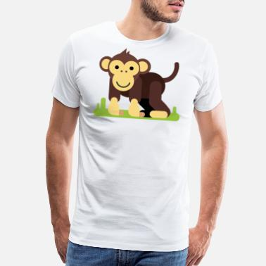 Cartoon Monkey Monkey Cartoon - Men's Premium T-Shirt