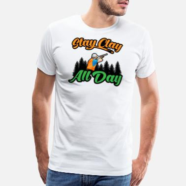 Trigger Stay Clay All Day Skeet Shooting Pigeon Shooter - Men's Premium T-Shirt