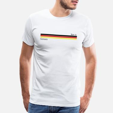 Allemagne Born in Germany, birth, bayern, german - Men's Premium T-Shirt