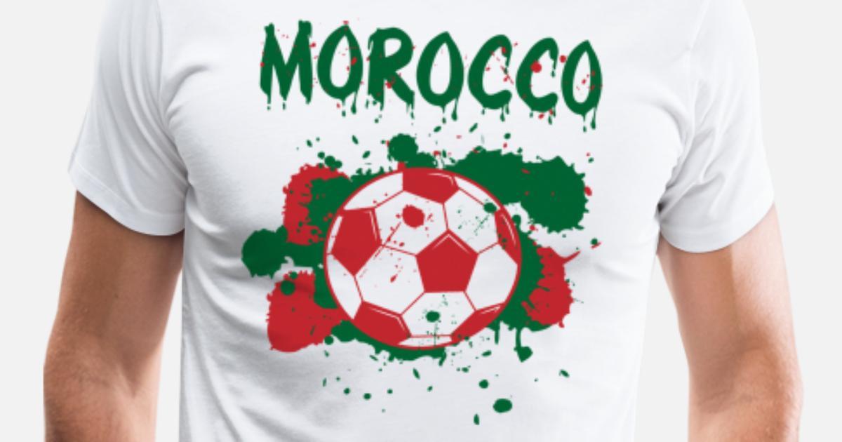 85e29d2d5c5 Men s Premium T-ShirtMorocco Soccer Shirt Fan Football Gift Funny Cool