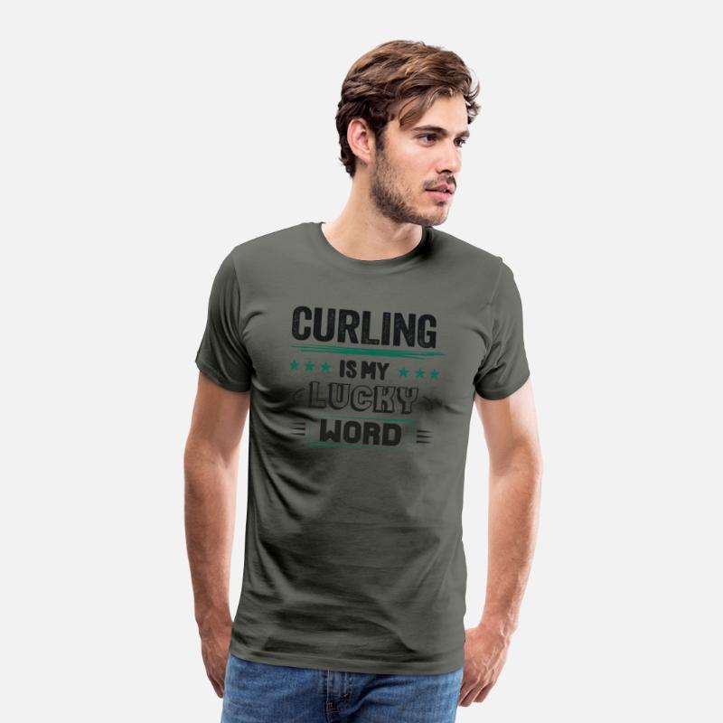 a549f3932 Funny Curling Champion Club Sayings Wishes Gifts Men's Premium T-Shirt    Spreadshirt