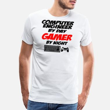 Cloud computer engineer gamer - Men's Premium T-Shirt