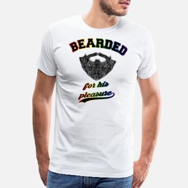 Leather Bearded for his pleasure LGBT Rainbow Gay Pride - Men's Premium T-Shirt