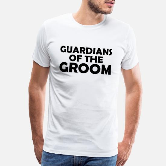 92b3d3c4 Bachelorette Party T-Shirts - Guardians of the groom funny bachelor party  design - Men's
