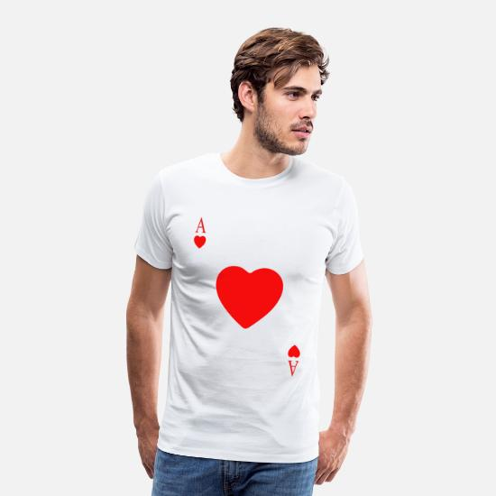 Card T-Shirts - heart card - Men's Premium T-Shirt white
