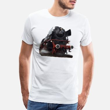 Locomotive steam locomotive - Men's Premium T-Shirt
