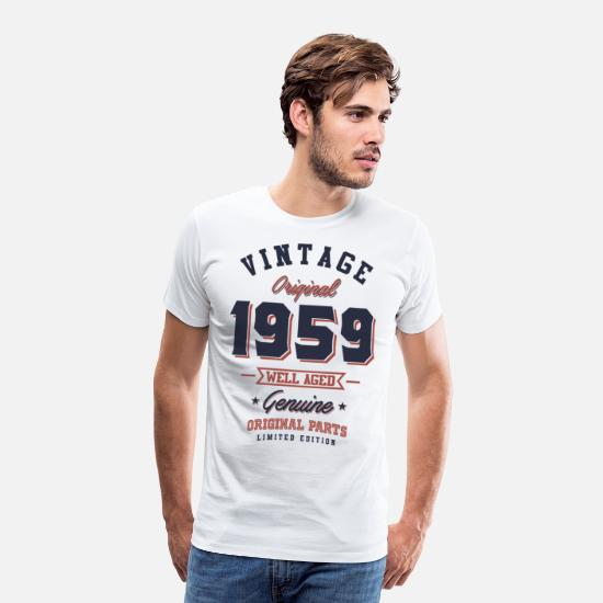 1959 T-Shirts - Born in 1959 Birthday - Men's Premium T-Shirt white