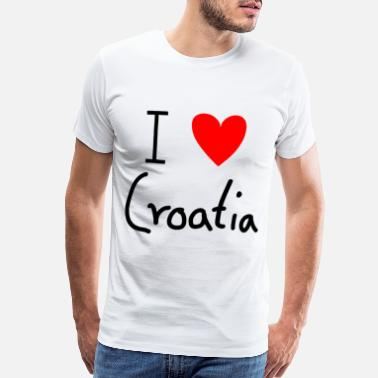 Zagreb I Love Croatia - Men's Premium T-Shirt