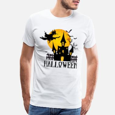 Scary Ghost Happy Halloween - Men's Premium T-Shirt