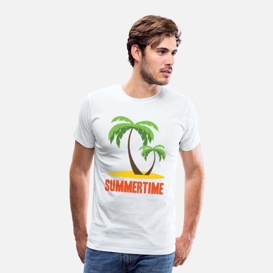 Island T-Shirts - Summer Holidays - Men's Premium T-Shirt white