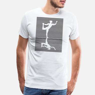 Silhouette Pose Yoga Reflection Natarajasana Dance Pose Asana - Men's Premium T-Shirt