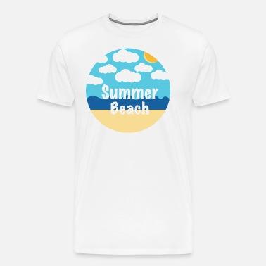 37d63e0af63 summer beach Men s Premium T-Shirt