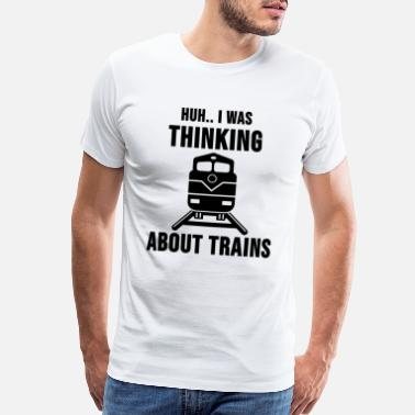 Railway Track Locomotive Engineer Train Driver Cool Gift - Men's Premium T-Shirt