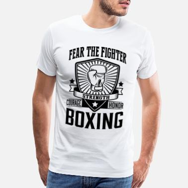 Boxing 29_boxing - fear the fighter_1c - Men's Premium T-Shirt