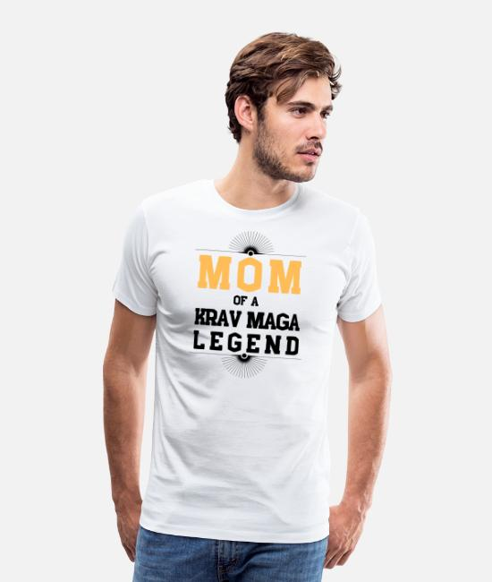 Legend T-Shirts - Mother Of A Krav Maga Legend - Men's Premium T-Shirt white