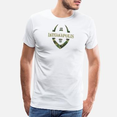 Veteran Clothes Football military Indianapolis - Men's Premium T-Shirt