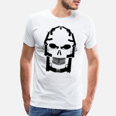 Skull Military Skull Weapons | Pistol Assault Rifle Grenade Owner - Men's Premium T-Shirt