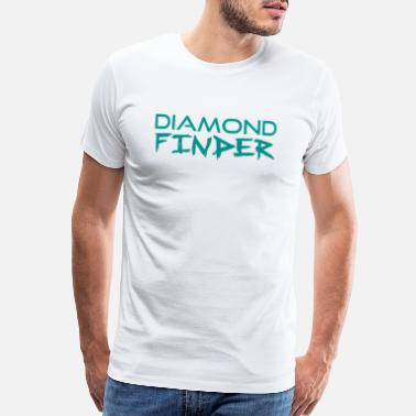 Finder Diamond Finder Text Logo - Men's Premium T-Shirt
