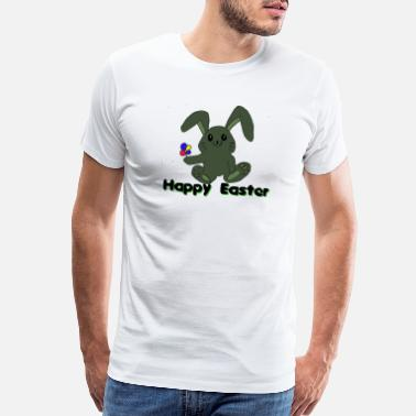Forest Dweller rabbit flower happy easter - Men's Premium T-Shirt