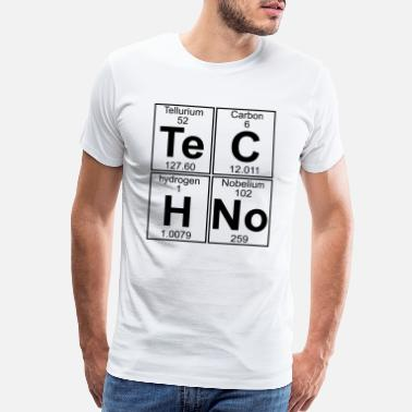 Techno Te-C-H-No (techno) - Men's Premium T-Shirt