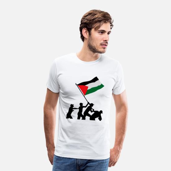 Anti T-Shirts - free_palestine_02 - Men's Premium T-Shirt white