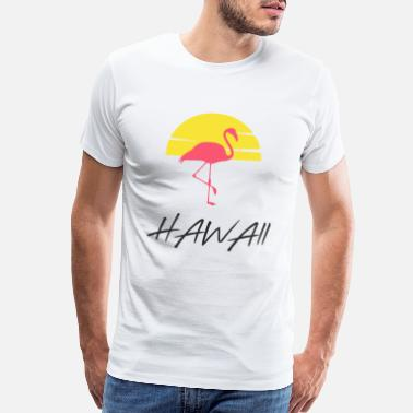 Flamingoes pink flamingo - Hawaii - Men's Premium T-Shirt