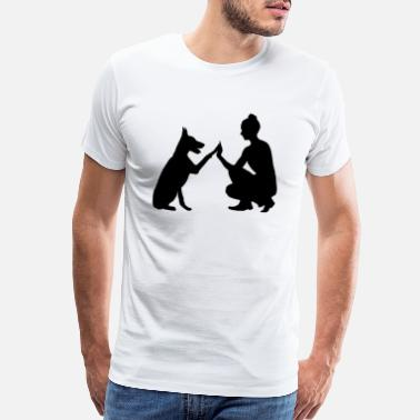 Suisse dog and owner - Men's Premium T-Shirt