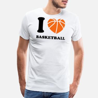 Slam I Heart Basketball - Men's Premium T-Shirt