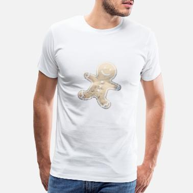 Smiling Heart Gingerbread Man - Men's Premium T-Shirt