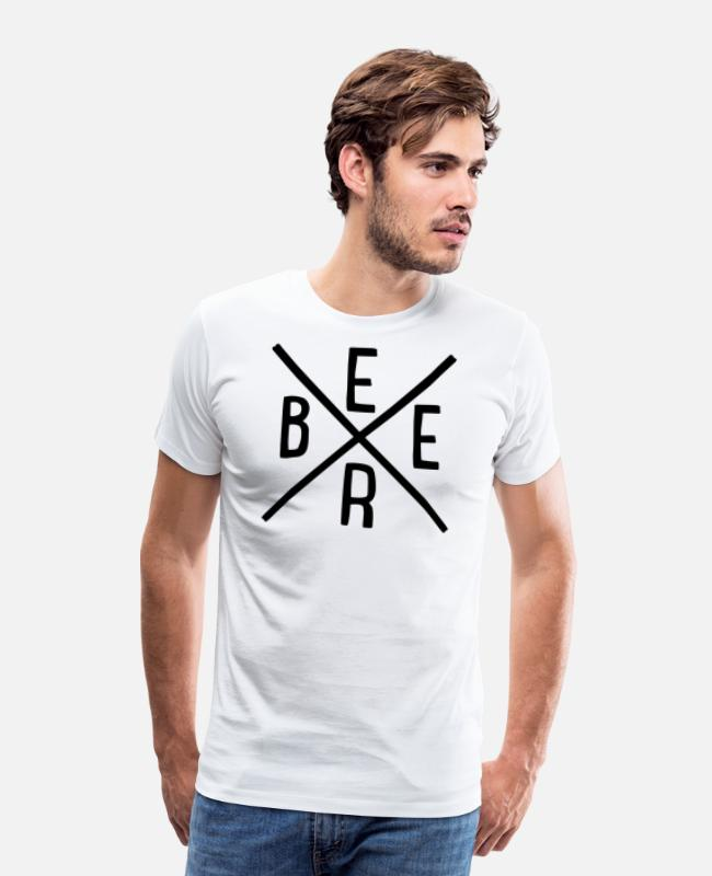 Hipster T-Shirts - Beer - Men's Premium T-Shirt white
