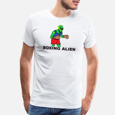 Boxing Match Boxing Alien , Humor Sport Design present - Men's Premium T-Shirt