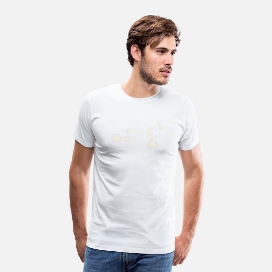 Horoscope T-Shirts - Star sign Leo - Men's Premium T-Shirt white