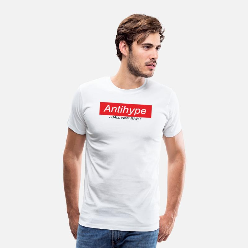 Rap T-Shirts - Antihype - Men's Premium T-Shirt white