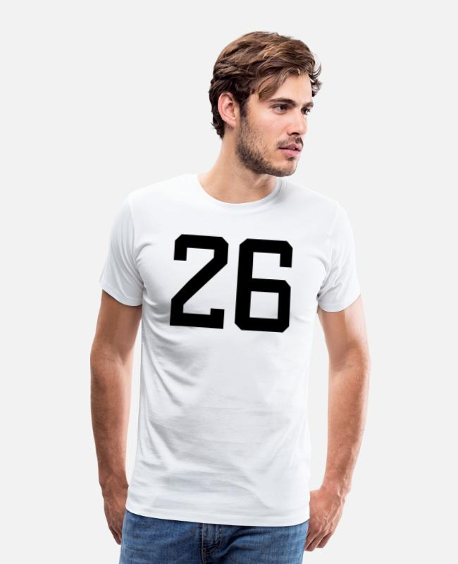 Six T-Shirts - number 26 - Men's Premium T-Shirt white