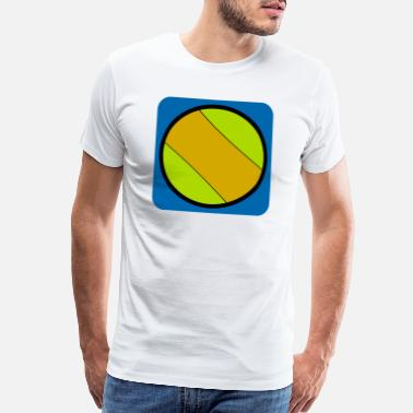 Tennis Court Tennis ball player tennis court - Men's Premium T-Shirt