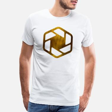 Circles Square HEXAGONS SECHSECKE GOLD 16 - Men's Premium T-Shirt