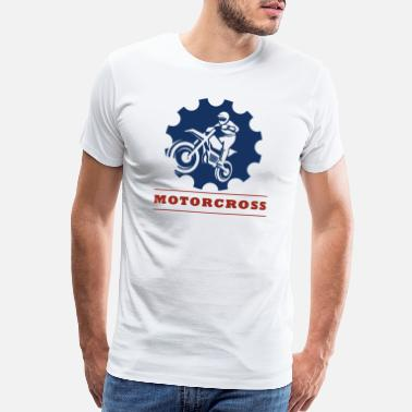 Cross Golf Motor cross with gear - Men's Premium T-Shirt