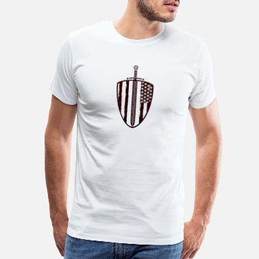 Fear Crossed Shield of the Crusader - Men's Premium T-Shirt