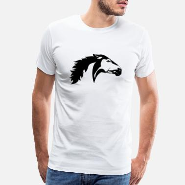 Headdress Black and white animals vector tattoo animals head - Men's Premium T-Shirt