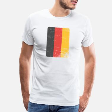 Black Red Gold Germany. Germany flag. Love Germany. - Men's Premium T-Shirt