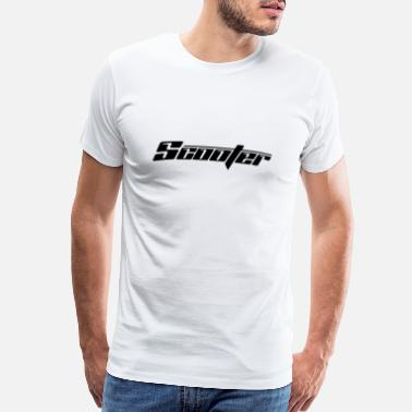 Scooter Driver Black Scooter Lettering - Men's Premium T-Shirt