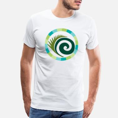 Leg Rounded feather in circle - Men's Premium T-Shirt