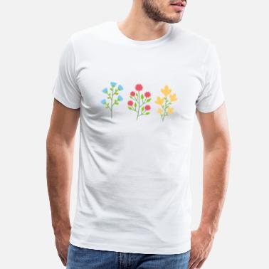Planet Earth Environmental protection gift environment flowers - Men's Premium T-Shirt