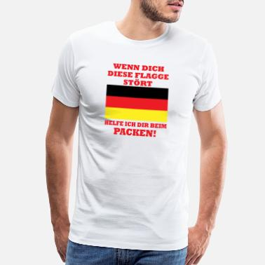 Black Pride If this flag bothers you, help Germany - Men's Premium T-Shirt