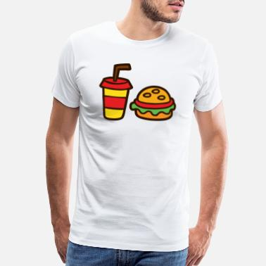 Food Chain Fatty Food - Men's Premium T-Shirt