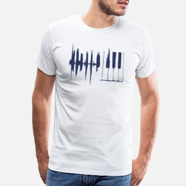 Keyboard Piano Keys Sound Wave Keyboard - Men's Premium T-Shirt