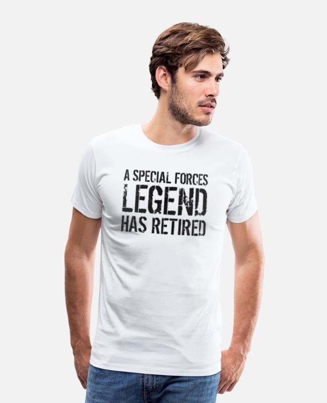 Military Veteran T-Shirts - Retired Military Police Special Forces Unit Gift - Men's Premium T-Shirt white